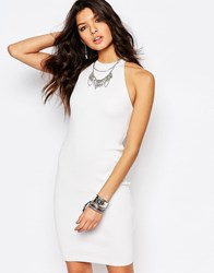 Noisy May Knitted Dress With Zip Back White
