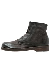 A.S.98 Grease Laceup Boots Smoke Anthracite