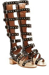 Laurence Dacade Hanna Studded Leather Gladiator Sandals