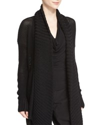 Urban Zen Long Sleeve Open Front Knit Cardigan Black