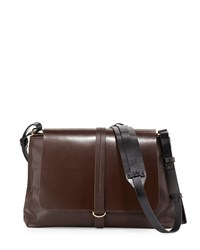 Kelsi Dagger Commuter Leather Messenger Bag Cocoa Brown