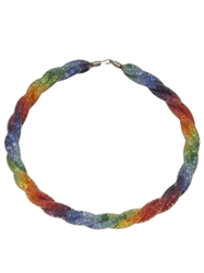 Peppercotton Twisted Mesh Link Necklace Multicolour
