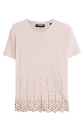 The Kooples Top With Cut Out Detail Pink
