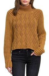Rvca Women's Mate Check Turtleneck Sweater