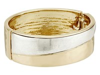 Robert Lee Morris Two Tone Hinge Bangle Bracelet Two Tone Bracelet Metallic