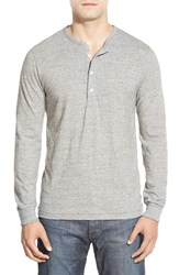 Men's Bonobos Long Sleeve Slub Jersey Henley Anti Grey Heather