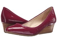 Cole Haan Tali Luxe Wedge 40 Beet Red Patent Women's Slip On Dress Shoes