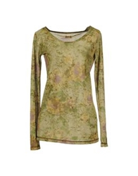 Dimensione Danza Long Sleeve T Shirts Military Green