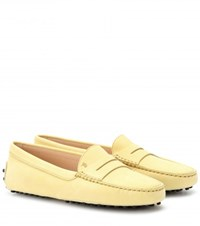 Tod's Gommini Suede Loafers Yellow