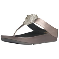 Fitflop X Blossom Flip Flops Pewter Leather