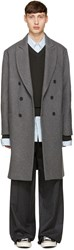 Ami Alexandre Mattiussi Grey Oversized Wool Coat