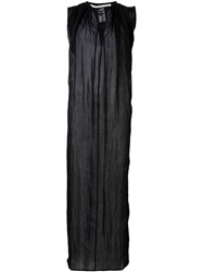 Isabel Benenato Long Sleeveless Shirt Black