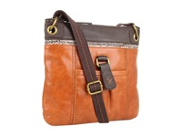 The Sak Kendra Leather Crossbody Brown Snake Multi Cross Body Handbags
