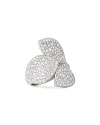 Giardini Segreti 18K White Gold Diamond Leaf Ring 2.1 Cts. Pasquale Bruni
