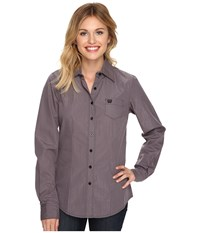 Cinch Cotton Plain Weave W Mylar Grey Women's Clothing Gray