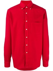 Massimo Piombo Mp Button Down Collar Oxford Shirt Red