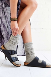 Urban Outfitters Ribbed Slouchy Crew Sock Grey