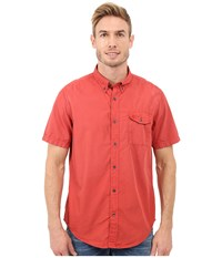 Timberland Allendale River Saltscrub Poplin Shirt Haute Red Men's Clothing