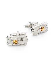 Saks Fifth Avenue Two Tone Speed Racer Cuff Links Silver Gold
