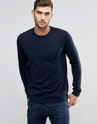 Jack And Jones Premium Crew Neck Jumper Navy Blazer
