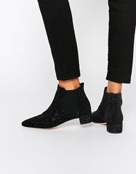 Miista Beau Leather Chelsea Boots Black Blue Metallic