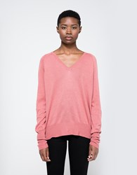 Callahan Boyfriend V Neck Sweater Dusty Rose