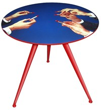 Seletti Toilet Paper Big Lipsticks Table