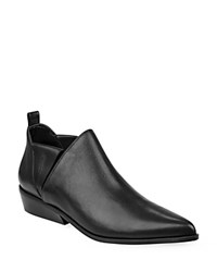 Kendall And Kylie Violet Leather Ankle Booties Black