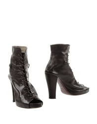 Malloni Ankle Boots Dark Brown