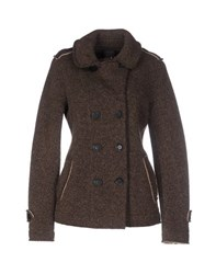 Tanomu Ask Me Coats And Jackets Jackets Women Dark Brown