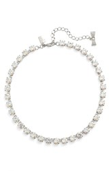 Kate Spade Women's New York 'Fancy That' Small Stone Necklace White Patina
