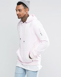 Criminal Damage Hoodie With Distressing Pink