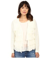 Brigitte Bailey Dharma Fringed Sweater Off White Women's Sweater