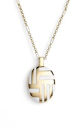 Women's Kate Spade New York 'Mod Moment' Pendant Necklace White