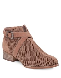 Vince Camuto Cashna Suede Booties Taupe
