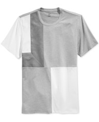 Inc International Concepts Men's Kramer Colorblocked Faux Suede T Shirt Only At Macy's Earl Grey Heather