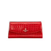 Aspinal Of London Eaton Clutch With Aspinal Pin Branding Red