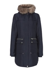 Label Lab Sporty Double Front Parka Navy