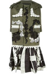 Antonio Marras Embroidered Coat Green