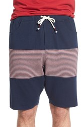 Men's Howe 'Backside' Stripe Panel French Terry Knit Shorts