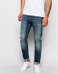 New Look Skinny Fit Jeans In Mid Wash Blue