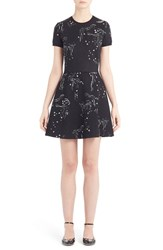 Valentino Women's Cloud Embroidery Knit Fit And Flare Dress