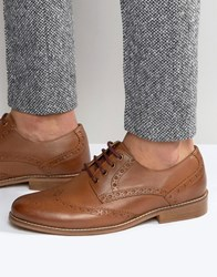 Kg By Kurt Geiger Gloucester Brogues In Tan Leather Tan
