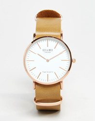 Reclaimed Vintage Leather Watch In Light Tan Tan