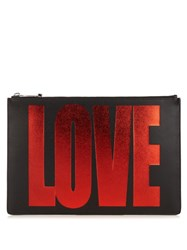 Givenchy Love Leather Pouch Black Red