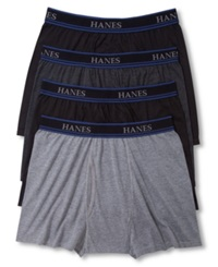 Hanes Platinum Men's Underwear Comfortblend 3' Short Leg Boxer Brief 4 Pack Grey Assorted