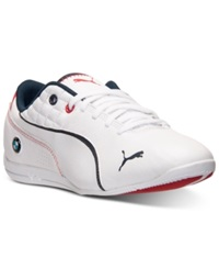 Puma Men's Bmw Ms Drift Cat 6 Leather Casual Sneakers From Finish Line White White