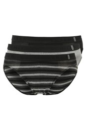 Schiesser Rio 3 Pack Briefs Black Grey