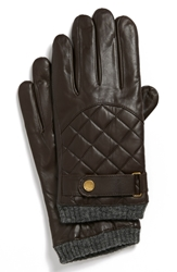 Polo Ralph Lauren Quilted Racing Gloves Circuit Brown