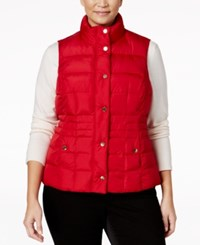 Charter Club Plus Size Quilted Puffer Vest Only At Macy's New Red Amore